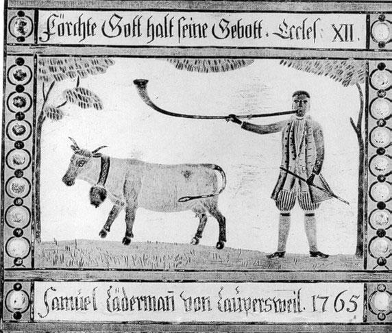 Fig. 6 Corno alpino 1765